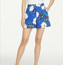 "Ann Taylor Drapey Shorts Womens 8 Blue Floral 5"" inseam"