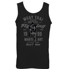 Muay Thai Fighting Mens Martial Arts Vest Boxing Training Top MMA Kick Mixed