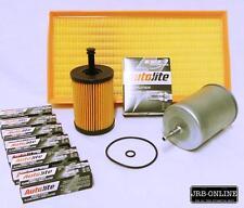 VOLKSWAGEN GOLF R32 V6 3.2L OIL AIR FUEL FILTER SERVICE KIT+SPARK PLUGS 2004