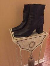 Nine West - Black Short Soft  Leather Zip Boots - Women Size 9M BRAZIL