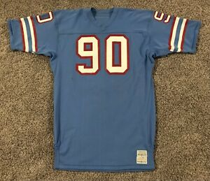 Game Used Sand Knit Houston Oilers Daryle Skaugstad 1981-82 Jersey