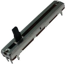 2x Potentiomètre à glissière 4mm mono linéaire 10kΩ 100mW ±20% THT 60x9x5.5mm