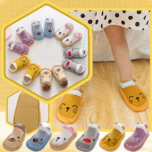 UK Newborn Baby Girl Boy Toddler Anti-Slip Socks Shoes Floor Slippers Sock Shoes