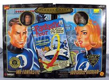 """Marvel Famous Cover Series F4 Mr Fantastic & Invisible Woman 8"""" Figures '98 NIP"""