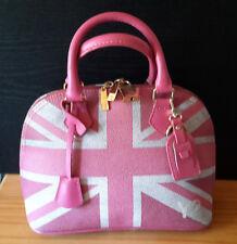 Y Not? Collections Tasche, Leder/Kunstleder Mix, Pink Grau goldfarben