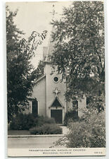 Transfiguration Catholic Church Wauconda Illinois 1947 postcard