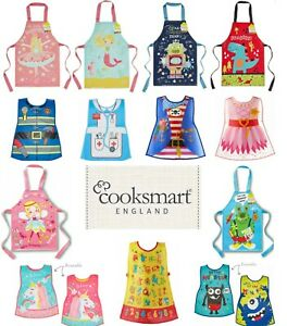Children's Kids Cooking Painting Messy Play PVC Apron Wipe Clean Overall Kitchen