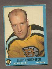 1962-63 Topps Hockey No. 14 Bruins Cliff Pennington Vg-Ex
