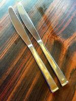 "Tahoe  Farberware Stainless Flatware  2 Dinner Knives   9 1/8"""