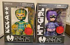 MEZ-ITZ KICK-ASS & HIT-GIRL SDCC 2010 EXCLUSIVE MEZCO DESIGNER VINYL NEW IN BOX