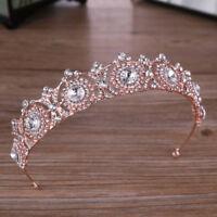 Rhinestone Crystal Tiara Hair Band Kid Girl Bridal Princess Crown Headband Gift