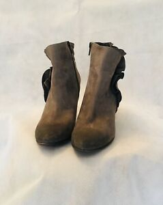 K & S Size UK 7/EU 40 Taupe Nubuck Ankle Boots