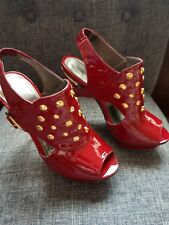 red carvela size 36 studded shoes not worn £140 quid when bought