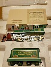 Thomas Kinkade Christmas Express Locomotive and Tender Bradford Exchange