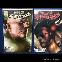 WEB OF SPIDER-MAN #5 #12 FIRST PRINT MARVEL COMICS (2010) VULTURE DOC OCK COVERS