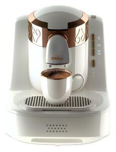 Arzum Okka OK001 Automatic Turkish/Greek Coffee Maker/Machine, White/Gold