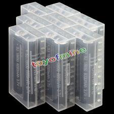 16X 18650 3.7V 6000mAh Li-ion Torch Rechargeable Battery + 8X Battery Case Box