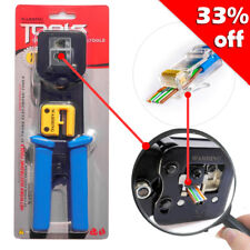 RJ45 Crimper Tools for Cat5e Cat6 Cables RJ45 Connector Plugs Crimping Tool Net