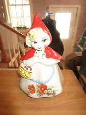 Hull Pottery Little Red Riding Hood Cookie Jar w/Poppies