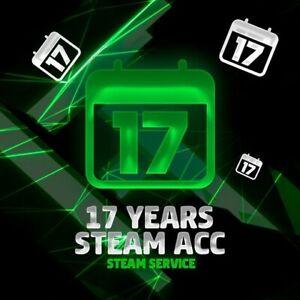 【STEAM ACCOUNT】【17 YEARS】【13.09.2003】【5 DIGIT】【5 & 10 Years Veteran Coin】