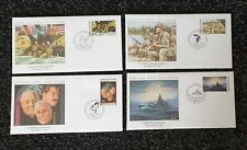4 x MARSHALL ISLANDS Official WWII First Day Covers BATTLE OF NORTH CAPE