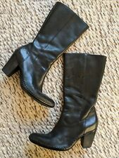 Frye Phoenix Moccasin Boot Black Leather Size 9 Pointed Toe Western