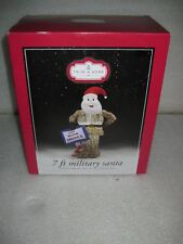 New 7 Foot Gemmy Military Santa Christmas  Airblown Inflatable God Bless America