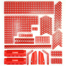 Lego Technic Bright Red Studless Beams Liftarms Panels Bricks - 144 Parts - NEW