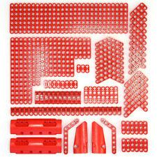Lego Technic Bright Red Studless Beams Liftarms Panels Bricks - 144 Parts - NEW