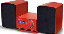 Multimedia Design Kompaktanlage Stereoanlage Mini HiFi Musikanlage ROT NEU