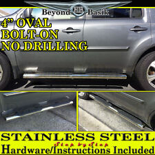 "2009-2015 Honda PILOT 4"" Oval Step Bars STAINLESS STEEL Nerf Running Boards Pair"