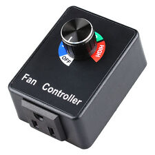 AC Variable Active Air Duct Exhaust Fan Speed Controller Hydroponics Inline 120V