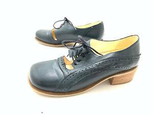John W. Shoes Damen Halbschuh Schnürschuh Comfortschuh Blau Gr. 38 (UK 5)