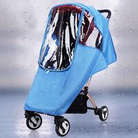 Baby Stroller Universal Waterproof Rain Wind Dust Shield Zipper Open Cover EVA
