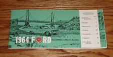 1964 Ford Full Size Car Owners Operators Manual 64 Galaxie