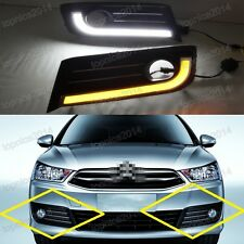 LED Fog Lamp Cover DRL Daytime Running Lights For Citroen C-Quatre C4 2012-2014