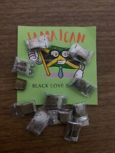 2x High Quality Black Jamaican Super Love Stone Big Size
