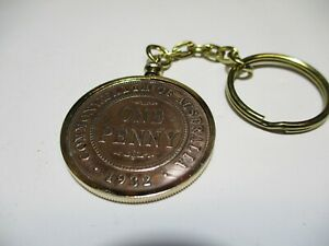 1932 Penny Coin Bezel Set Gold Plated