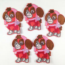 5pcs Puppy Dog Girl Iron On Sew On Embroidered Patches Appliques sewing DIY #1
