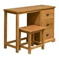 PADSTOW OAK Stained Oak Dressing Table & Stool