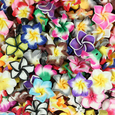 20mm Mixed Polymer Fimo Clay 5-leaves Flower Spacer Loose Beads 50pcs SL54