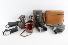 5 x Assorted Vintage CINE CAMERAS Inc. Eumig, Canon, Kodak & Lumicon