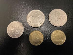 France Collection Vintage Old Coins Francs Job Lot 89