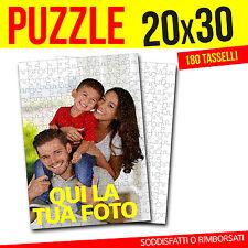 PUZZLE CON FOTO 20x30 PERSONALIZZATO FOTO PUZZLE 180 TASSELLI