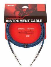 D'Addario Braided Instrument Cable Blue 15 feet PW-BG-15BU