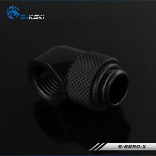 90 Degree Angle G1/4 Thread Rotary Fitting Block Hard TUBE water cooling Black