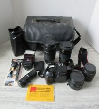 Canon EOS 750 Camera with Extra Lenses Carrying Case Etc