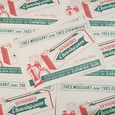 Papier Buvard Pharmacie Dentifrice Chewing-gum Epicerie Ancienne Pub 1960