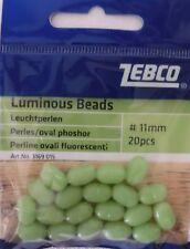 Leuchtperlen Zebco fluo glow 5mm 8mm 11mm Lockperlen Köder Systeme Brandung 20St