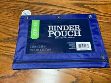 Pen + Gear Binder Pouch 7.38 In X 10.38 In Nylon Pouch 3-Ring Blue